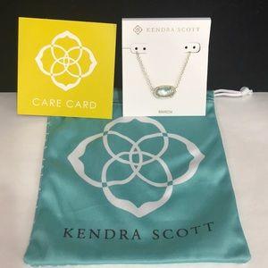 NWT. Kendra Scott Elisa necklace. March stone.